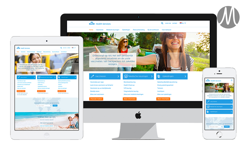 KLM Health Services – Website redesign