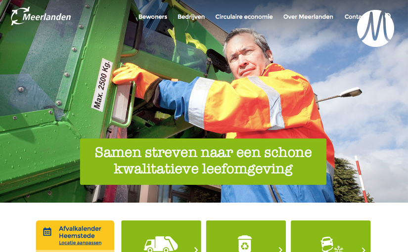 Meerlanden – Website redesign